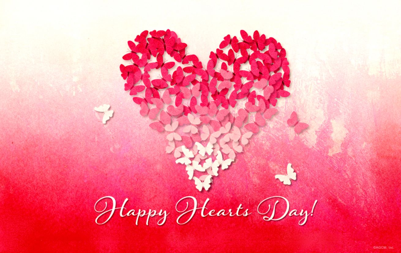 Butterfly Heart Valentines Day Wallpaper Smart Wallpapers