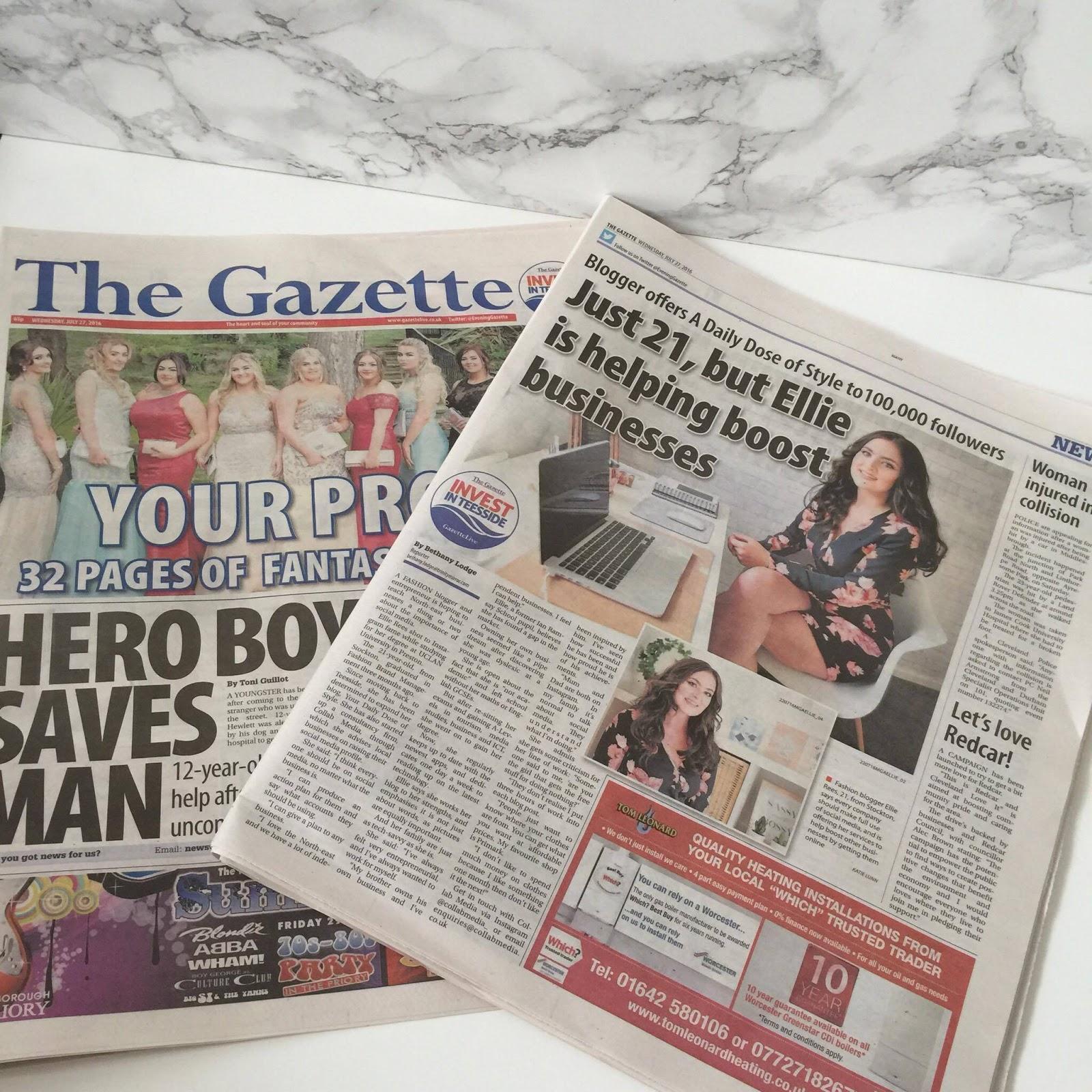 Evening Gazette Blogger Social Media Business