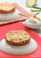 Tartaletas de calabacín y mascarpone