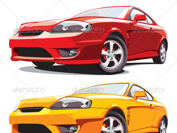 Download Vector Image of Modern Sport Car Free
