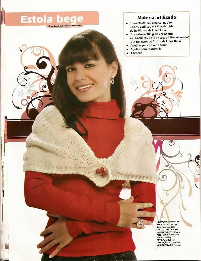 Estola-Chal Beigs Tricot Instrucciones