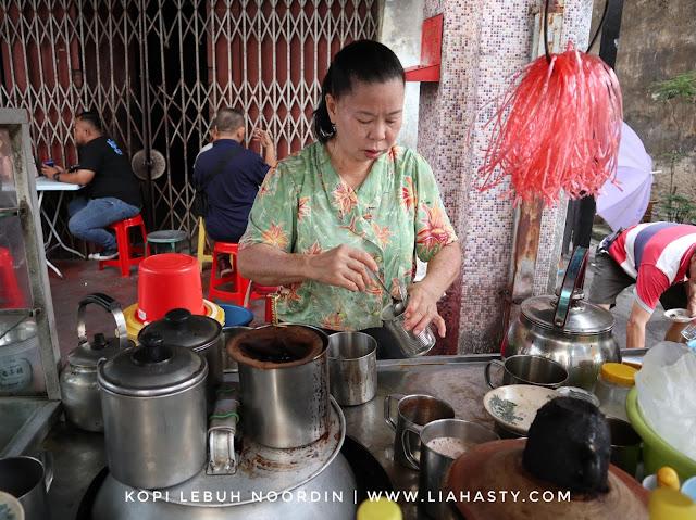 Kopi Bintang - Kopi Viral Auntie Evelin Ang di Lebuh Noordin, Pulau Pinang
