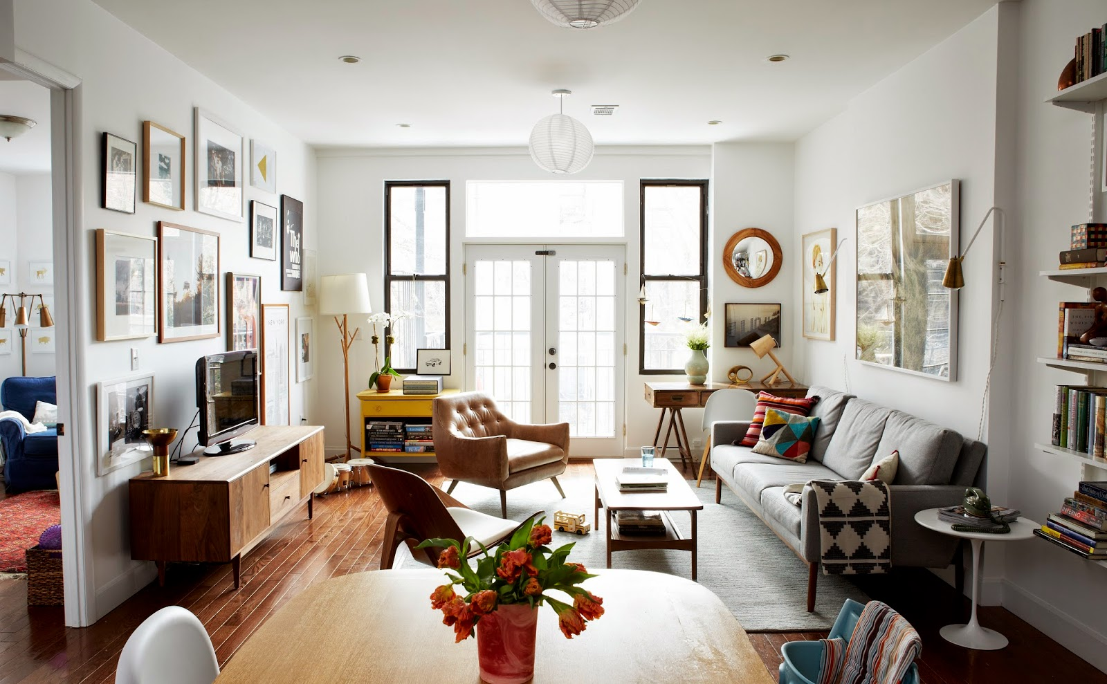 Our brooklyn apartment a cup of jo - One bedroom apartment living room ideas ...