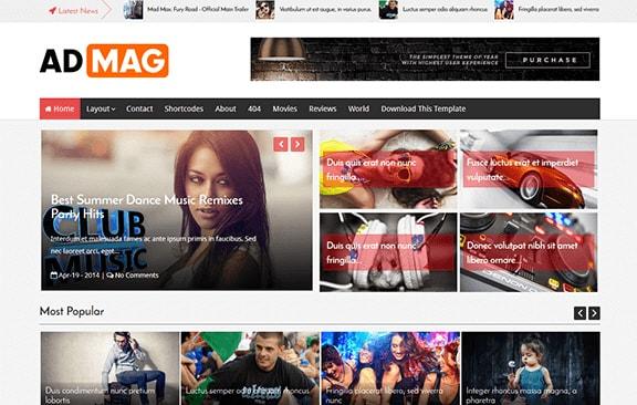 AdMag шаблон для Blogger