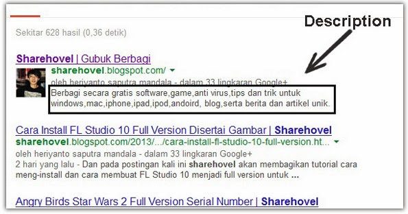 Cara Mudah Memasang Meta Description Dan Meta Keyword Pada Blog by sharehovel