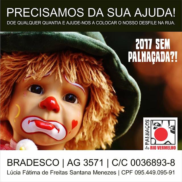 Desfile dos Palhaços do Rio Vermelho pode ser cancelado