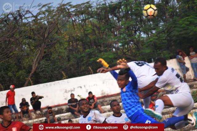 Babak Pertama PSMP Mojokerto Unggul Atas Tamunya PSBS Biak Dengan Skor 1-0