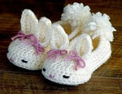 Adorable Baby Bunny Crochet Booties for Baby