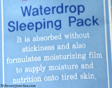 Lioele V-Line Waterdrop Sleeping Pack review