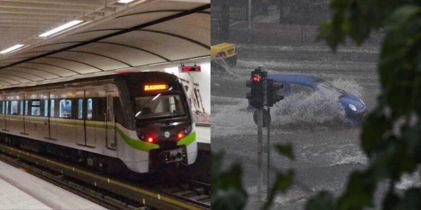 Εκκενώθηκαν οι σταθμοί μετρό Νομισματοκοπείο και Πανόρμου λόγω της καταιγίδας!!!