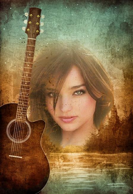 Pagina para Editar Fotos: Fotomontaje con una Guitarra