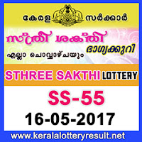 15.5.2017 Sthree Sakthi Lottery SS 55 Results Today