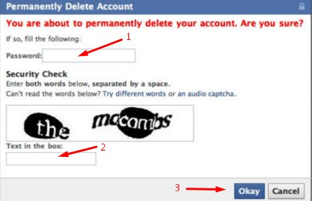 How to Deactivate Facebook id permanently