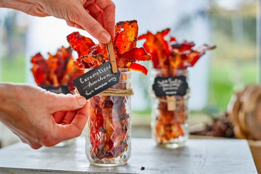 Holiday Entertaining with a Bacon Bar + Free Bacon for a Year! From www.bobbiskozykitchen.com
