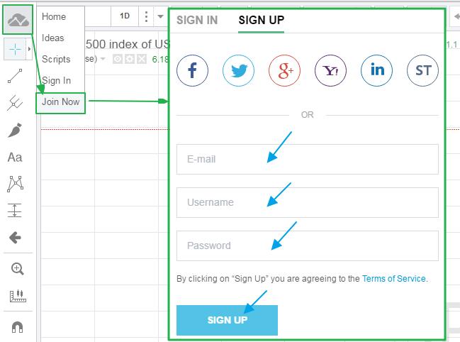 트레이딩뷰 (TradingView) 차트 무료 계정 (회원가입) 방법