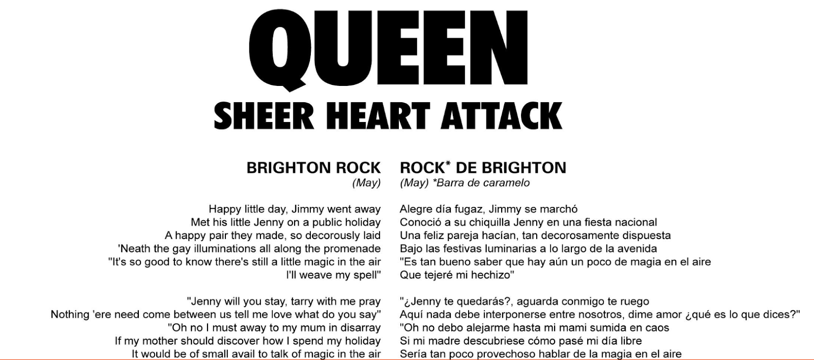 Letras Traducidas - Sheer Heart Attack