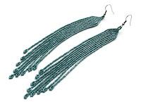 стильные длинные серьги купить бижутерия из бисера купить интернет магазин