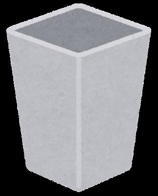ゴミ箱のイラスト(空・四角)