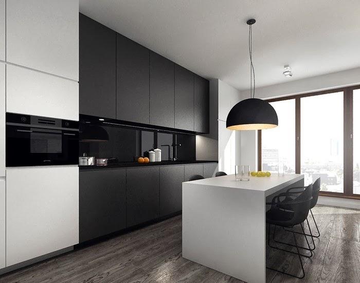 Ambiente de contrastes en blanco y negro cocinas con estilo for Interior cocinas modernas