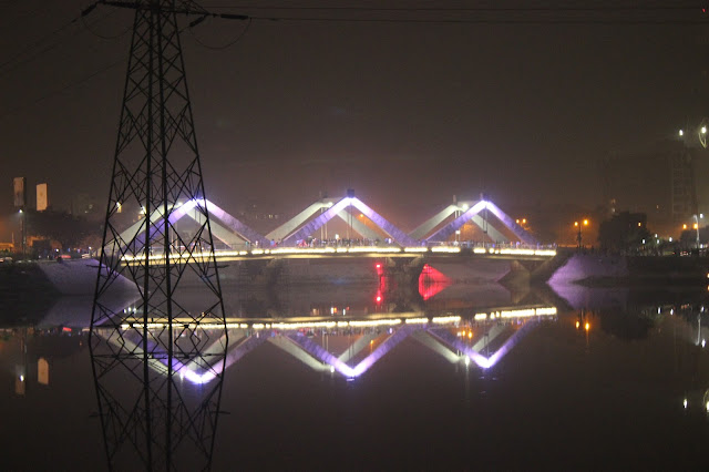 Hatirjheel bridge low Violate color light