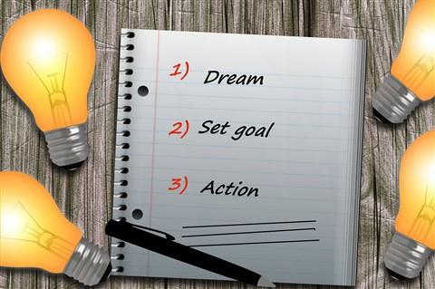 bermimpi, tentukan tujuan, tindakan