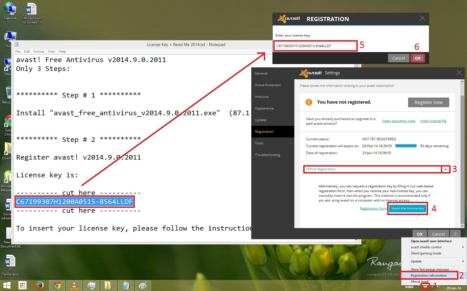 avast free antivirus offline registration license key