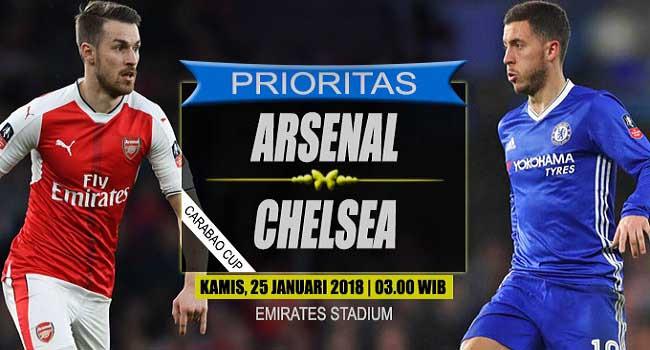 live streaming arsenal vs chelsea 25 januari 2018