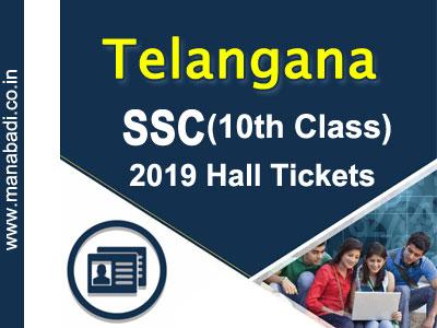 Telangana SSC Hall Tickets 2019
