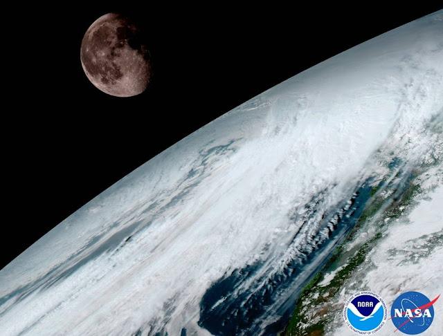 Foto bulan dan bumi terbaru 2017