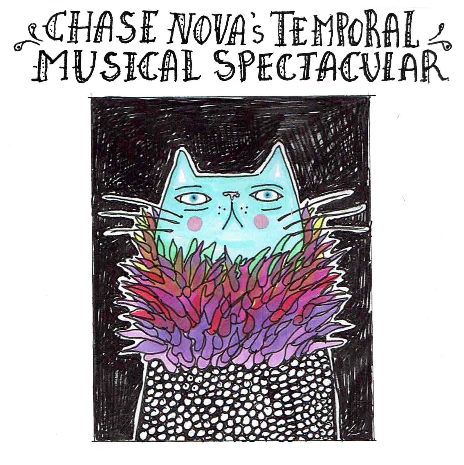 Chase Nova Poster Blue Cat Illustration Series