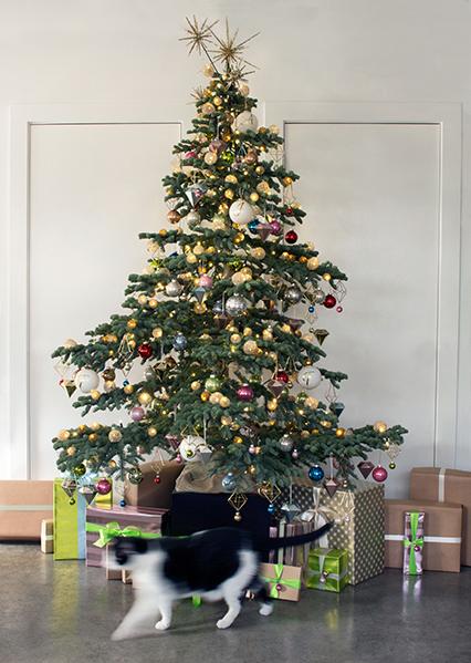 Monogramed Christmas Tree Decorations