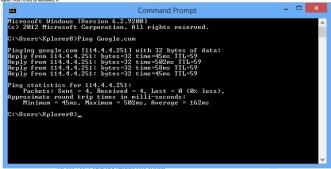 Ping Google Dengan CMD
