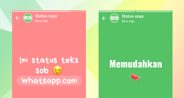 Membuat Status WhatsApp Teks Warna-warni