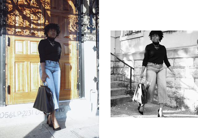 Blogger Sherre P wearing J Crew, Madewell, and ASOS