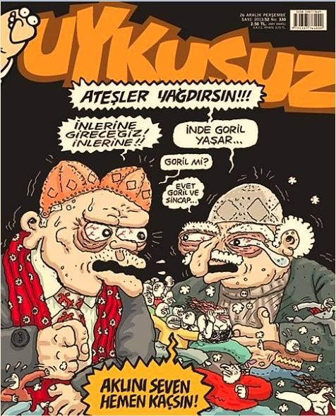 Fethullah Gülen beddua karikatür