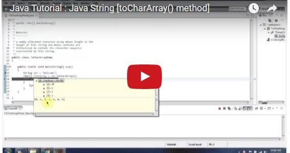 Java ee java tutorial java string tochararray method for Pool design pattern java