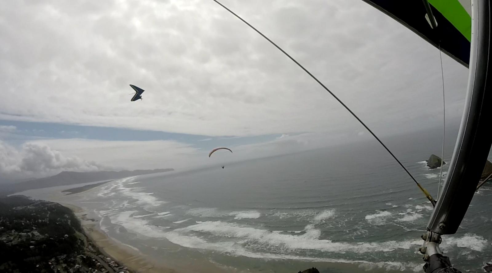 Rick Lai's Hang Gliding report : 4 hrs flights at Oceanside