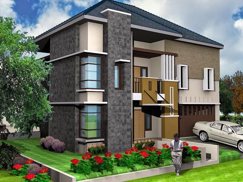 Gambar Desain Rumah Tingkat Minimalis 2 Lantai Mewah dan Modern  Desain Rumah Minimalis Terbaik