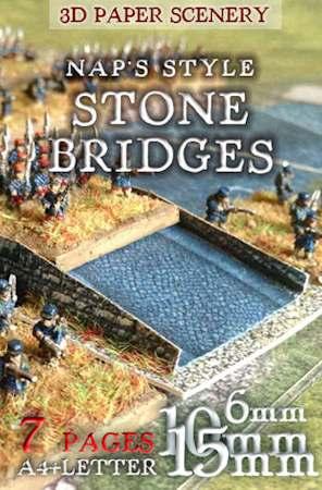 10mm Wargaming: Stone Bridges Set 6mm (1/285), 10mm, 15mm