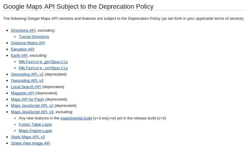Google Developers Blog: Clarifying the deprecation policy
