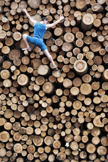 http://www.123rf.com/photo_20442545_fit-climber-going-down-the-large-pile-of-cut-wooden-logs.html