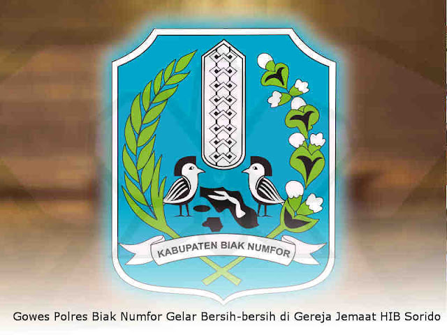 Gowes Polres Biak Numfor Gelar Bersih-bersih di Gereja Jemaat HIB Sorido