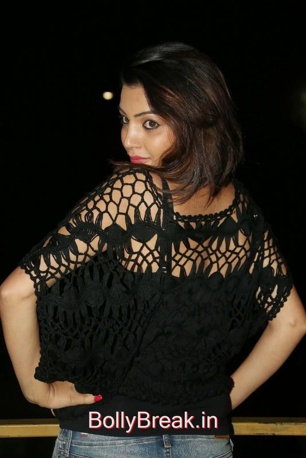 , Hot Pics Of Deeksha Panth In Black Thread Lace Top