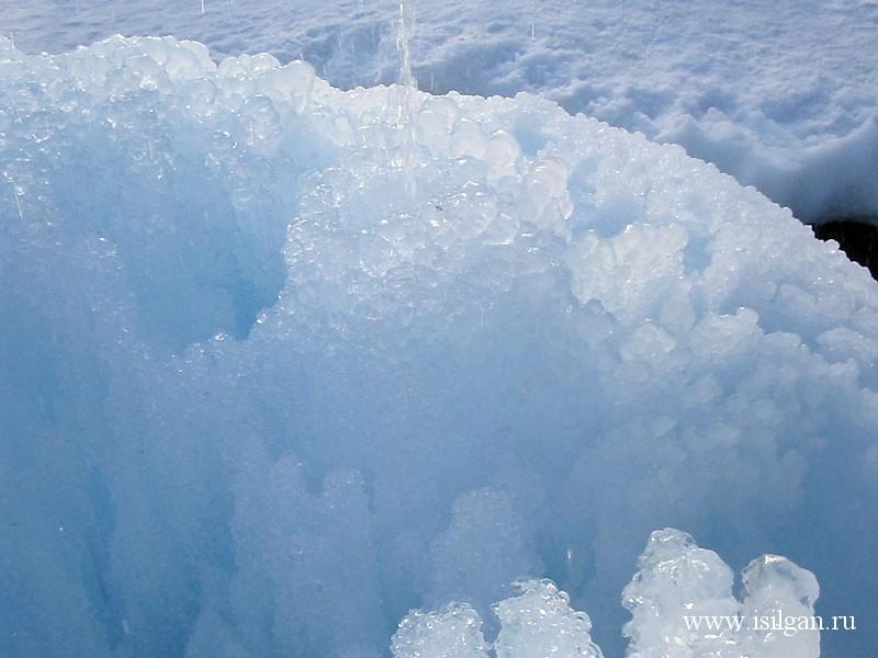 """Ледяной фонтан 2005. Национальный парк """"Зюраткуль"""". Челябинская область"""