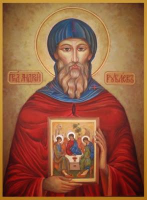 Αποτέλεσμα εικόνας για Άγιος Ανδρέας Ρουμπλιόβ ο Εικονογράφος