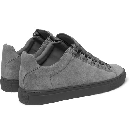 Low-Ridin' In Grey: Balenciaga Arena Suede Sneakers | SHOEOGRAPHY