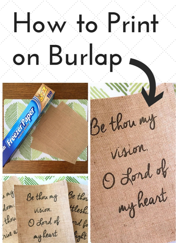 Printing on Burlap in Your Printer