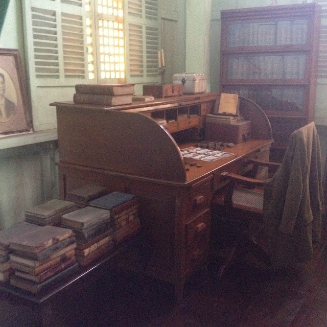 Old books at the Don Bernardino Jalandoni Ancestral House and Museum