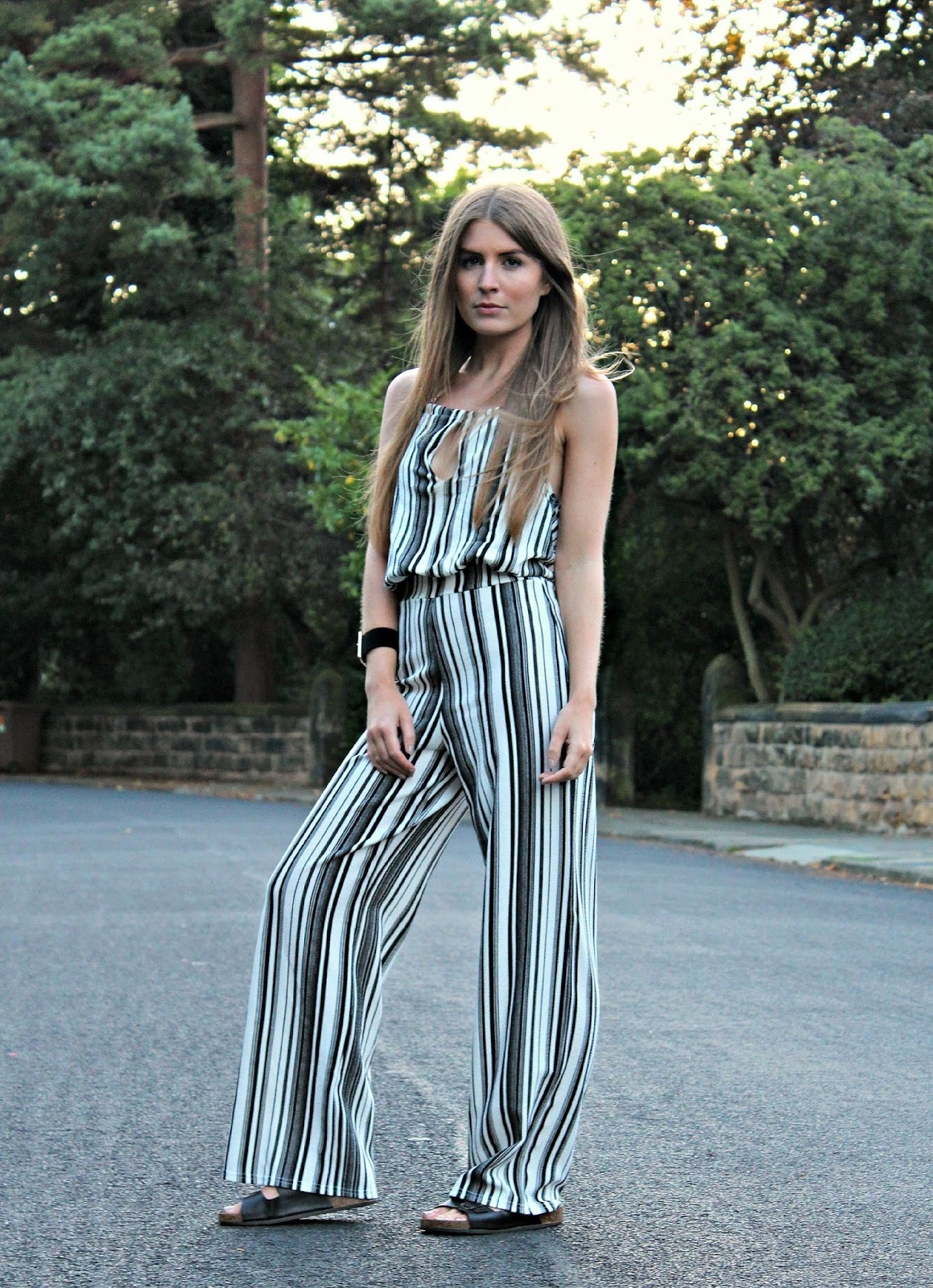 e1cd949051e Style Trunk   Outfit  Striped Jumpsuit