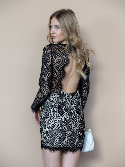 Lace Mini Dress Cheryl Black